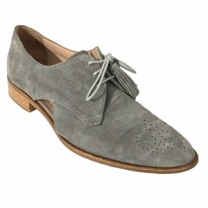 PERTINI suede oxford style suede loafers size 9